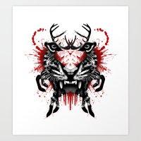 predator Art Prints featuring Predator by Enkel Dika