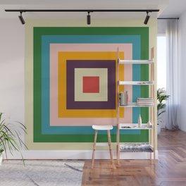 Retro Colored Square Space Wall Mural
