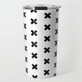 CROSS ((black on white)) Travel Mug
