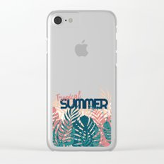 Tropical Summer #society6 #decor #buyart Clear iPhone Case