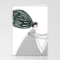 best friend Stationery Cards featuring Best friend by yael frankel