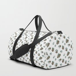 Holiday Pinecones and Anemones Duffle Bag