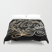 mom Duvet Covers featuring Mom by ArtLovePassion