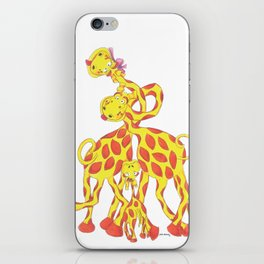 Animals - Giraffes Wanna Love iPhone Skin