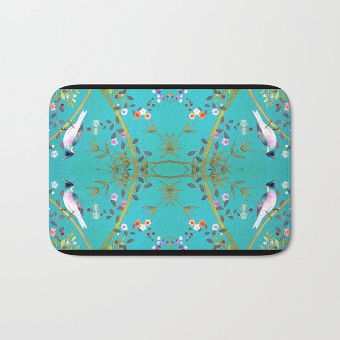 chinois 1731: turquoise  Bath Mat