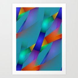 3D abstraction -18- Art Print