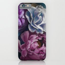Dark Flowers from J. Loomer Home Collection by artist Juliana Loomer iPhone Case