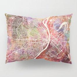 Saint Louis map Pillow Sham