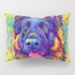 Luminescent - Psychedelic German Shepherd Dog Pillow Sham
