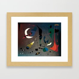 Miró's Ghost Wakes Up from a Bad Reality Framed Art Print