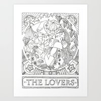 valentines Art Prints featuring Valentines by Ilse Gabriela