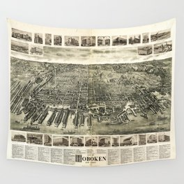 City of Hoboken, New Jersey (1904) Wall Tapestry