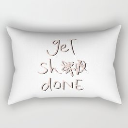 get sh** done - pink scribbles on white Rectangular Pillow