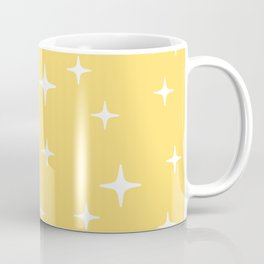Mid Century Modern Star Pattern 731 Yellow Coffee Mug