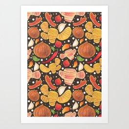 Indonesia Spices Art Print