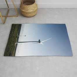 wind turbine in derbyshire Rug