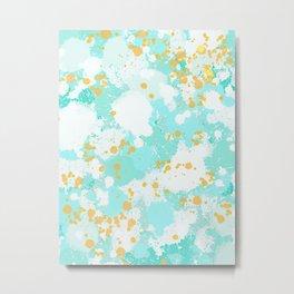 Ocean Spray Tangerine Splash Metal Print