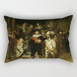 The Nightwatch, Rembrandt, 1642 Rectangular Pillow