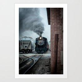 Strasburg Railroad Steam Engine #90 Vintage Train Locomotive Pennsylvania Art Print