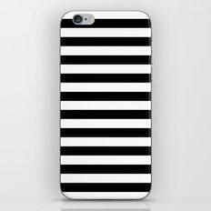 Horizontal Stripes (Black/White) iPhone & iPod Skin