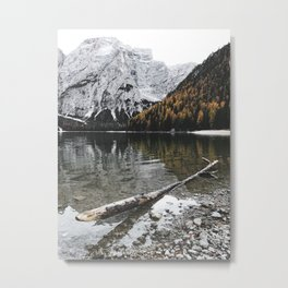 braies lake Metal Print