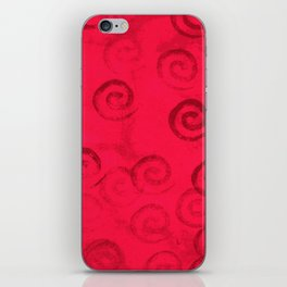 Festive Red Spirals iPhone Skin
