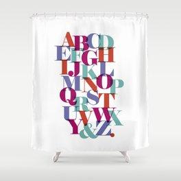 ABC Colors Shower Curtain