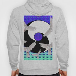 AQUA-LILAC FLYING DOVES Taoism/Daoism ART Hoody