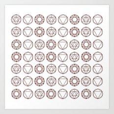 Geometry Shapes Art Print