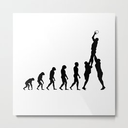 Evolution Rugby #2 - Line-out Metal Print