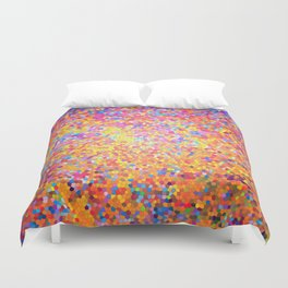 Mosaic-stained glass, abstract, vibrant, colourful Duvet Cover