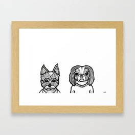 Molly and Bella Framed Art Print