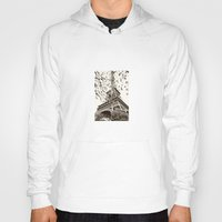eiffel tower Hoodies featuring Eiffel Tower by Linde Townsend