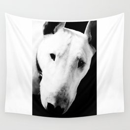 Confused English Bull Terrier Wall Tapestry