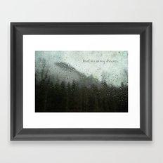 Meet Me In My Dreams... Framed Art Print