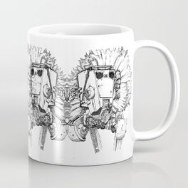 Flowered ATST Black and White Coffee Mug