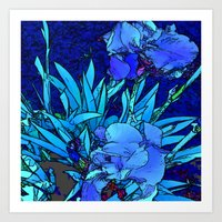 iris Art Prints featuring Iris by lillianhibiscus