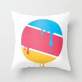 PLANET DROOLE Throw Pillow
