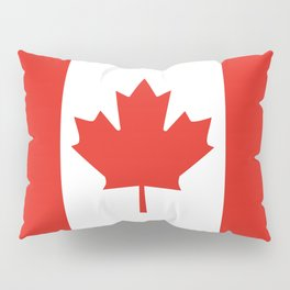 Red and White Canadian Flag Pillow Sham