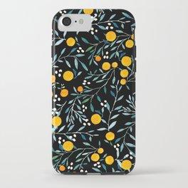 Oranges Black iPhone Case
