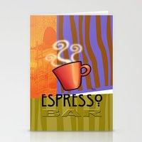 bar Stationery Cards featuring EXPRESSO BAR by Cheryl Daniels