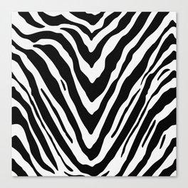 Zebra Stripes in Black and White Canvas Print