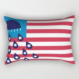 Red White and Blues Rectangular Pillow