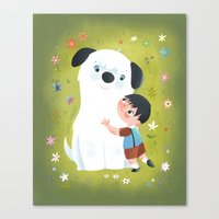best friends Canvas Prints featuring Best Friends by Greg Abbott