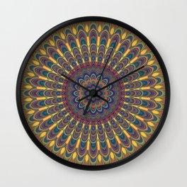 Bohemian oval mandala Wall Clock