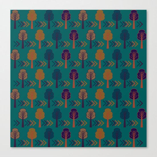 Trees and arrows Canvas Print
