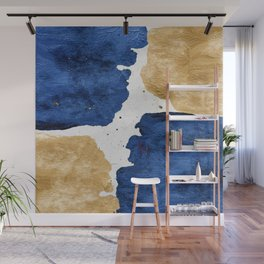 Gold and Navy Blue paint Wall Mural