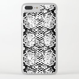 snake black and white Clear iPhone Case