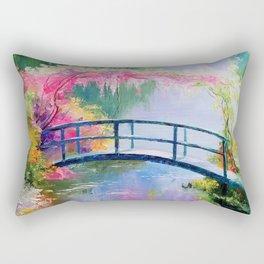 Pond in the garden of Monet Rectangular Pillow