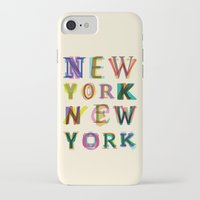 new york iPhone & iPod Cases featuring New York New York by Fimbis